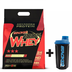 100% Whey + Shaker 750ml | Stacker2Europe