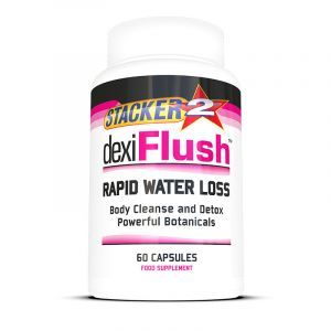 Stacker2 - Dexi Flush 60 capsules Rapid Water Loss Detox