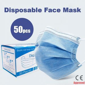 Disposable Face Mask (3 layers ) - 50pcs